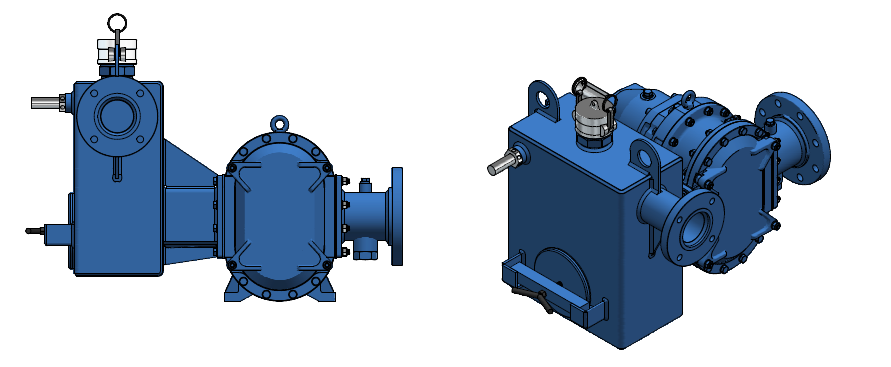 Vacuum/sediment screening tank offer priming assistance for applications with larger lifts or those with large solids